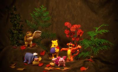 Winnie Pooh Figuras Madera