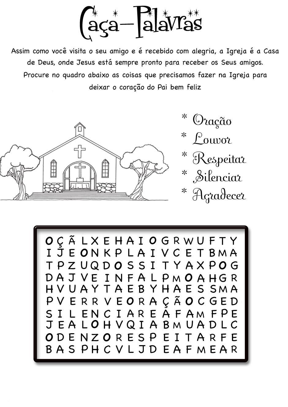 a desenhar Caça Palavras Divertido colorir