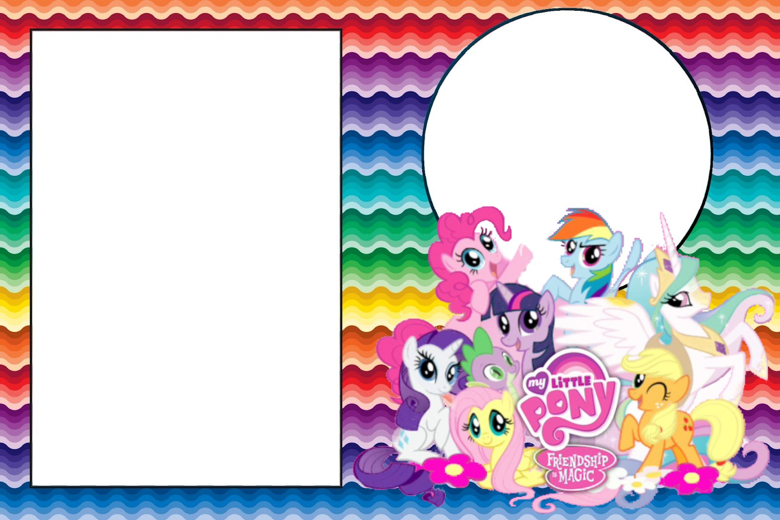Diseño tarjeta cumpleaños My Little Pony - Imagui