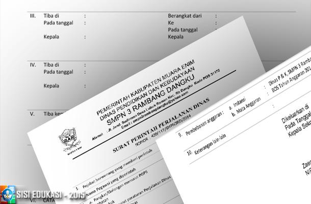 Contoh Surat Perjalanan Dinas SPPD Sekolah