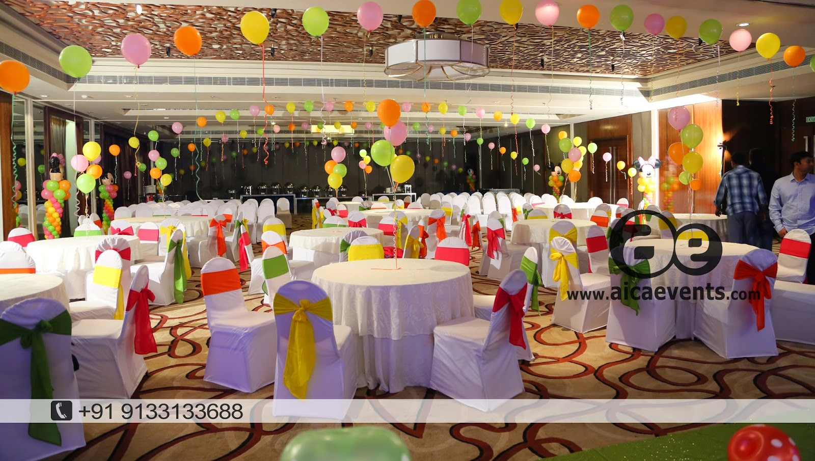 Aicaevents balloon wall stage backdrop decoration for Backdrop decoration for birthday