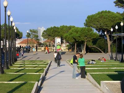 Montjuïc viewpoint in Barcelona