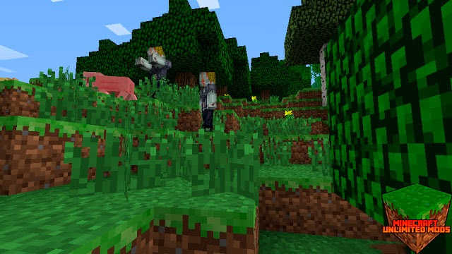 The Walking Dead Mod minecraft zombies eats a pig