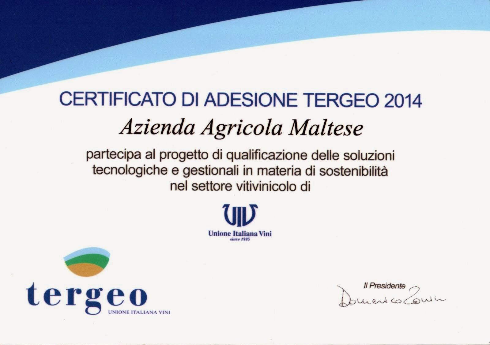 Adesione al Prog. TERGEO