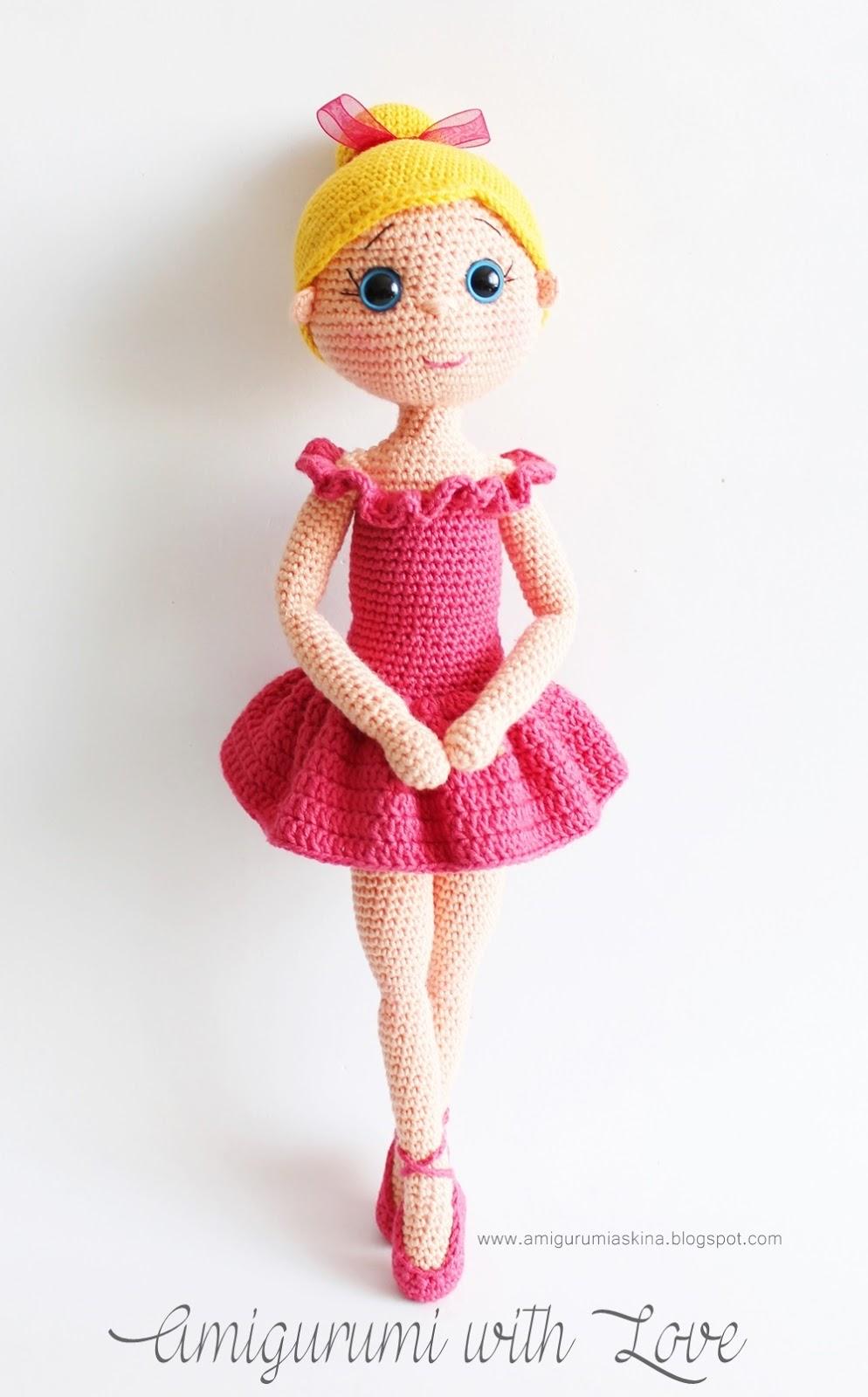 Deadpool Amigurumi Free Pattern : Amigurumi Balerin Bebek- Amigurumi Ballerina Doll - Tiny ...