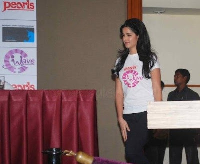 Saif, Katrina and Harman at Waves NGO Press Meet Pics