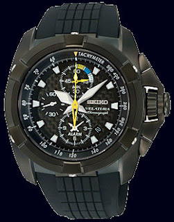 Seiko Velatura Alarm Chronograph Rubber Men Watches SNAE17P1