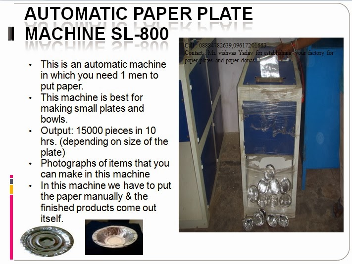 Fully Automatic Paper Plate And Dona making machine: TILES , PAVER ...
