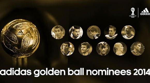 10 Nominasi Pemain Terbaik Piala Dunia 2014