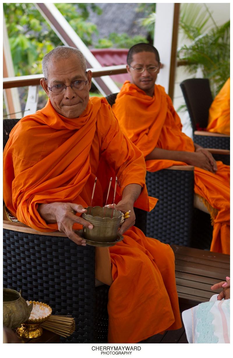 Thai Monks at Lamai beach wedding