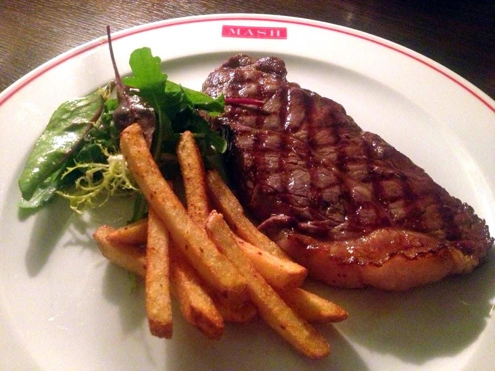Steak at MASH Danish restaurant in London