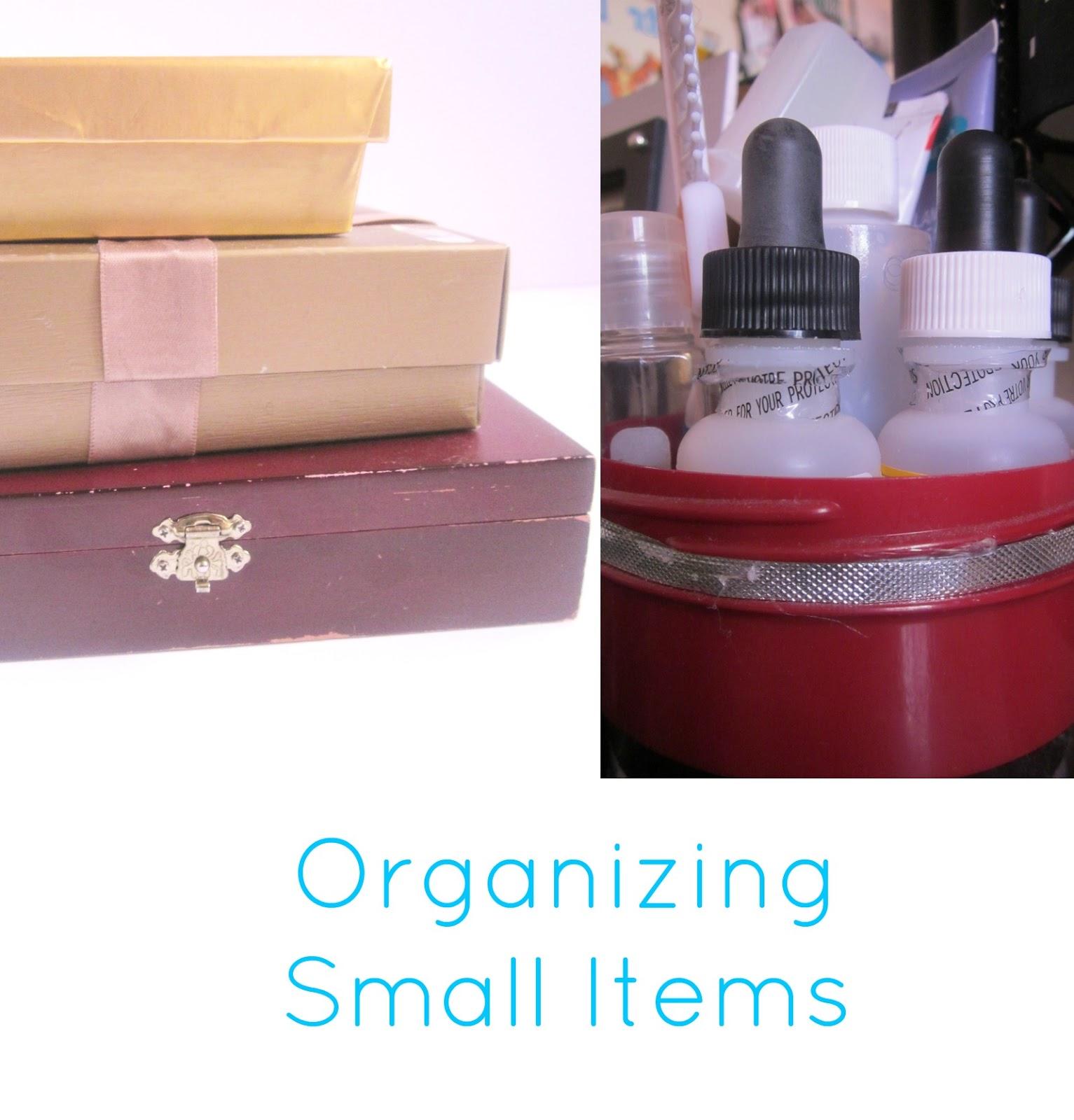 organizing small things