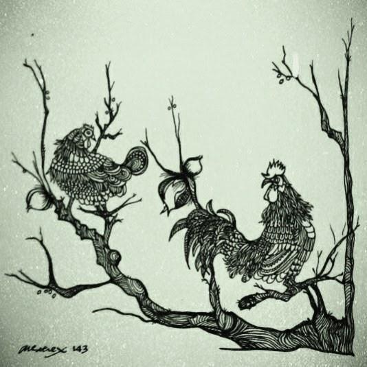 Rooster-Hen-Art-anexerex
