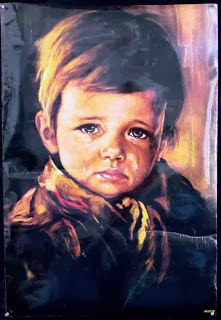 لوحة الطفل الباكى...لوحة فنية ملعونة تسبب الشؤم والحرائق فى كل مكان تعلق فيه !!!!