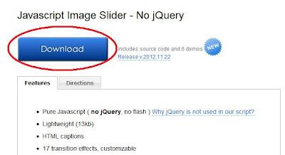 Menucool javascript for Blogger image slider