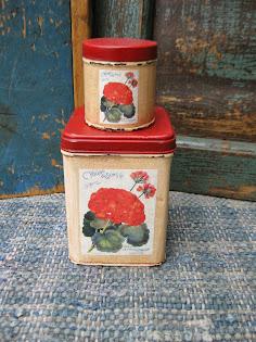 geranium tins