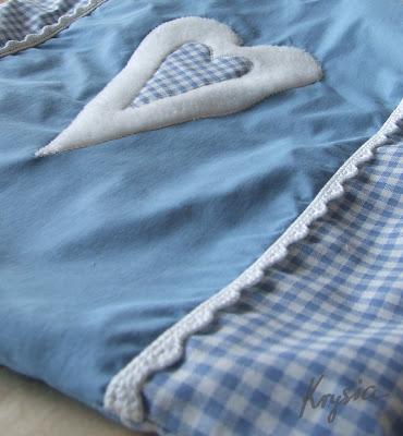 poduszka personalizowana serce błękitne