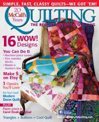 I am in McCall&#39;s Quilting