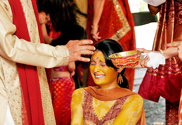 INDIAN WEEDINGS HALDI RITUAL