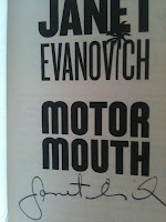 Free autographed copy of Motor Mouth by Janet Evanovich