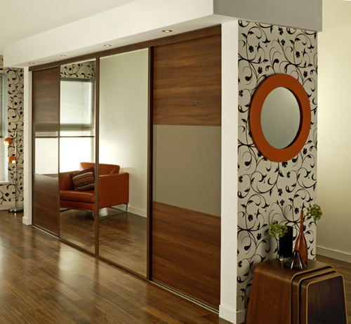 Custom fitted sliding wardrobes by portner furniture for 4 door wardrobe interior designs