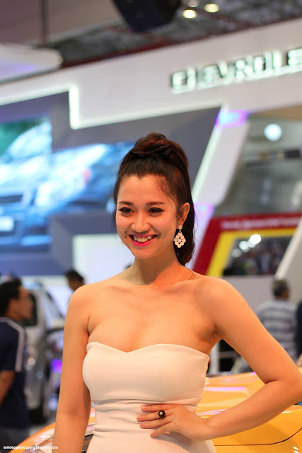 Hình ảnh những bóng hồng Vietnam Motor Show 2014