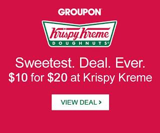 Krispy Kreme Groupon Deal Doughnuts Donuts