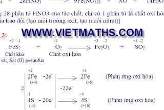 phuong phap can bang phan ung, oxi hoa khu, can bang phan ung
