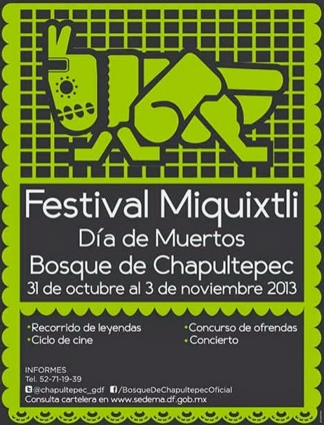 Festival Miquixtli por Día de Muertos en Chapultepec