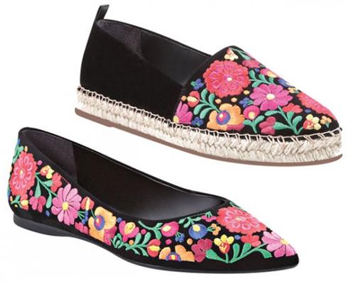 Arezzo coleção Frida Kahlo sapatilha e alpargata