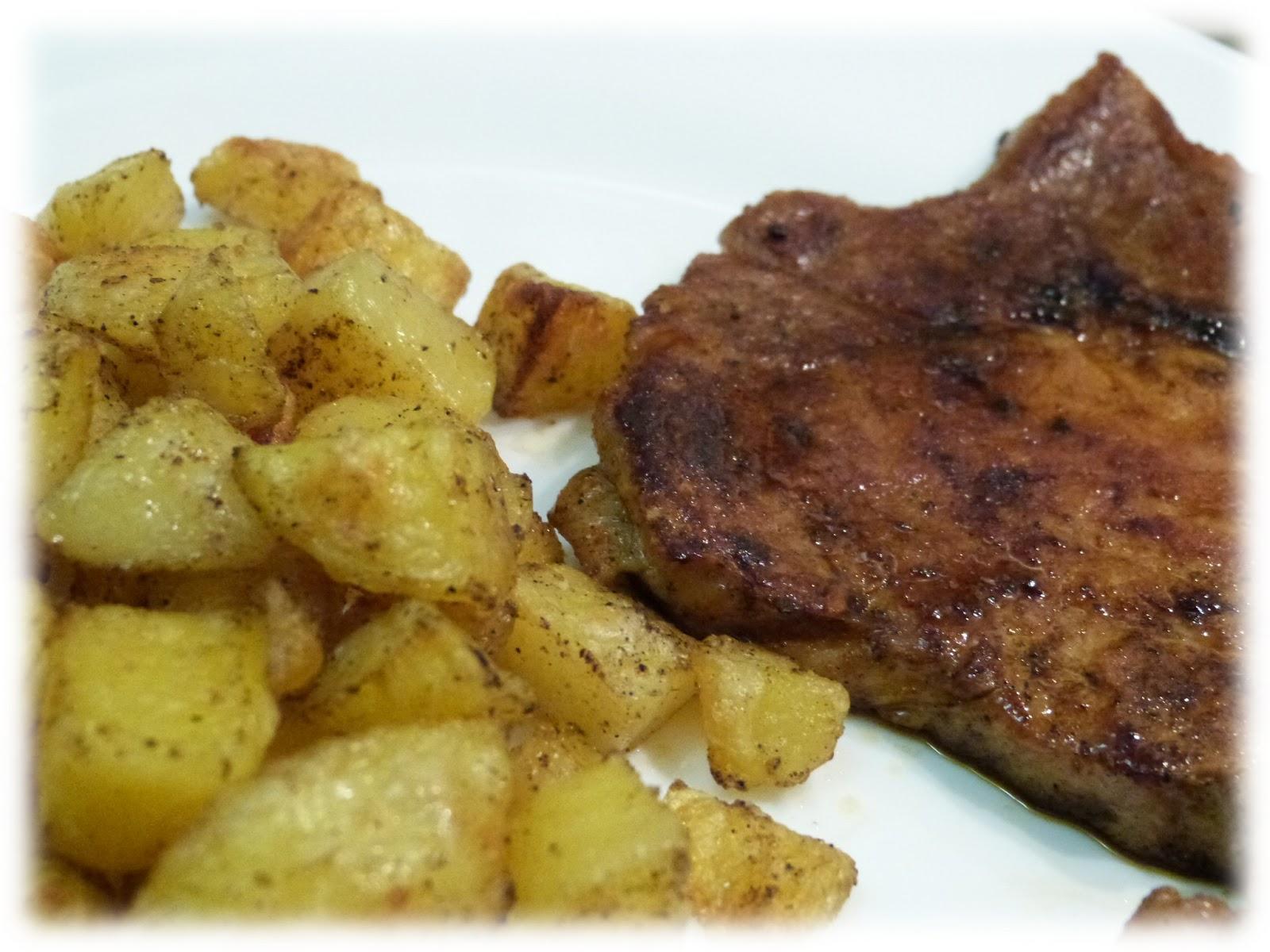 cuisine campus c te de porc la sauce soja et pommes de terre au four. Black Bedroom Furniture Sets. Home Design Ideas
