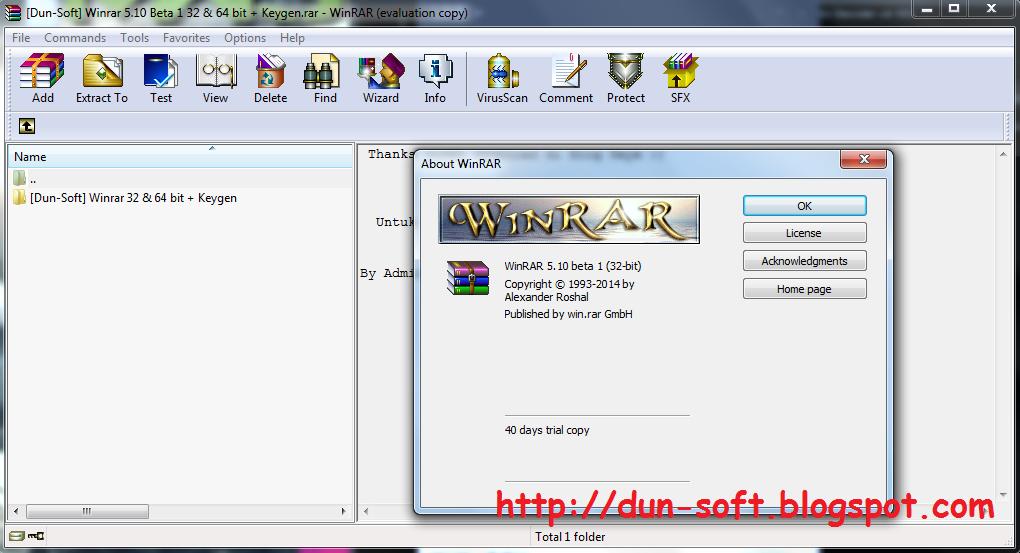 Download WinRAR 5.10 Beta 1 (32-bit dan 64-bit) | Dun-Soft