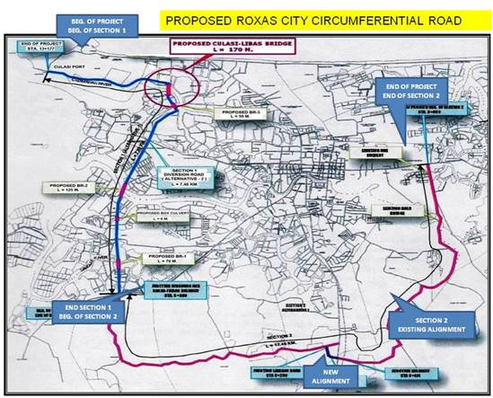 Roxas City Circumferential Road Product Of Leaders Vision - Roxas map