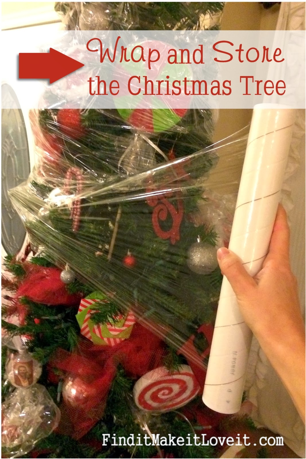 How i store my christmas tree find it make love