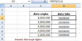 contoh data rumus text