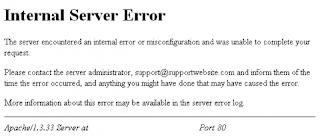 Internal Error Server In Wordpres
