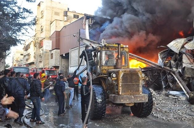 اندلاع حريق بمخازن شركة كورية بالجرف الأصفر