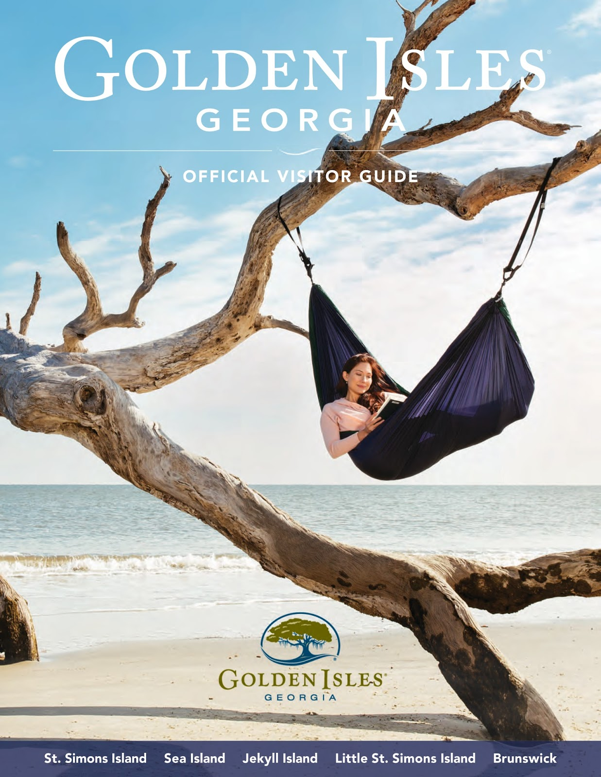 Amy West on the cover of the Golden Isles Visitors Guide.