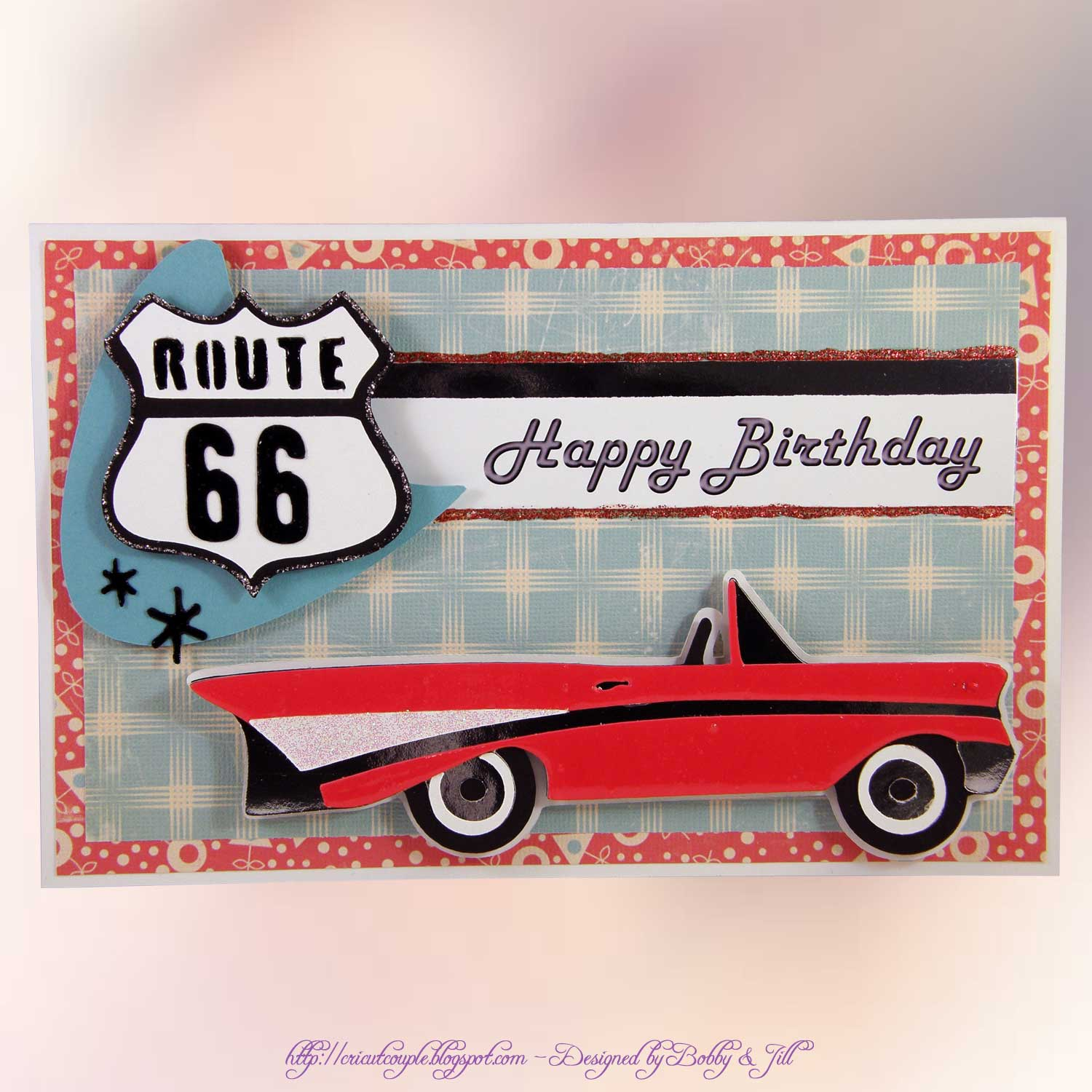 Cricut couple 50s birthday cards these are both 12 cards the side view car and all layers are cut at a height of 230 the chrome parts of the car were cut from mirror silver card stock bookmarktalkfo Images