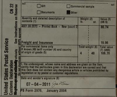 yang dikirim dari Amazon ditempeli label seperti foto di bawah ini