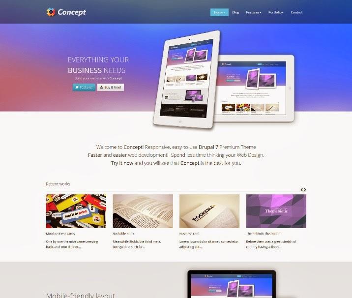 Concept - Responsive Drupal 7 Premium Theme