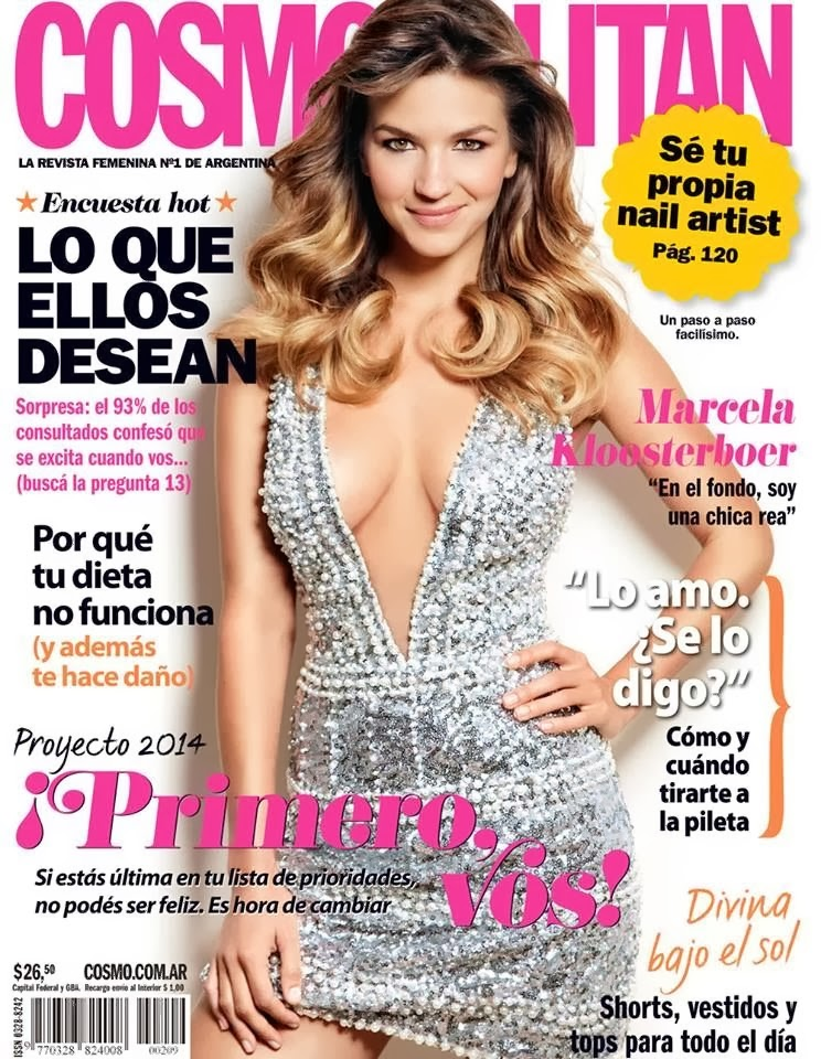 Magazine cover : Marcela Kloosterboer Magazine Photoshoot Pics on Cosmopolitan Magazine Argentina January 2014 I