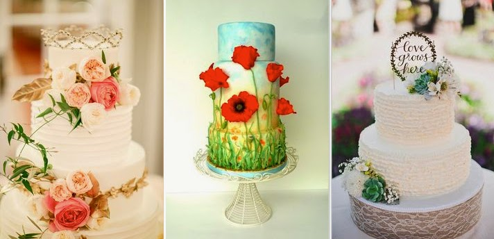 Garden Themed Wedding Cakes Singapore Photo