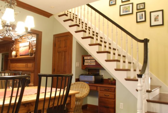 Sweet chaos home how to choose a paint color - How to paint a stairway wall ...