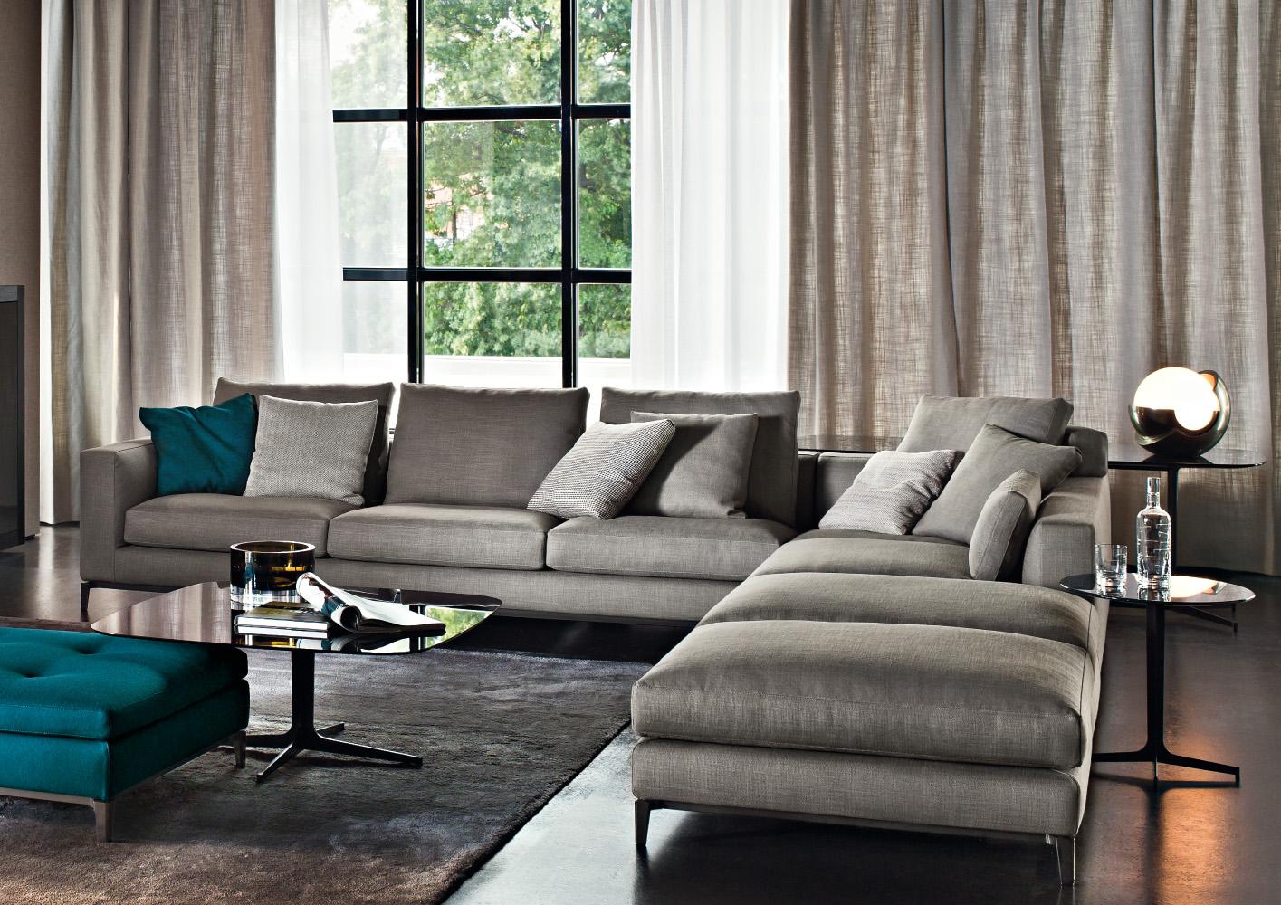 Furniture minotti on pinterest sofas armchairs and for Modern living room gray