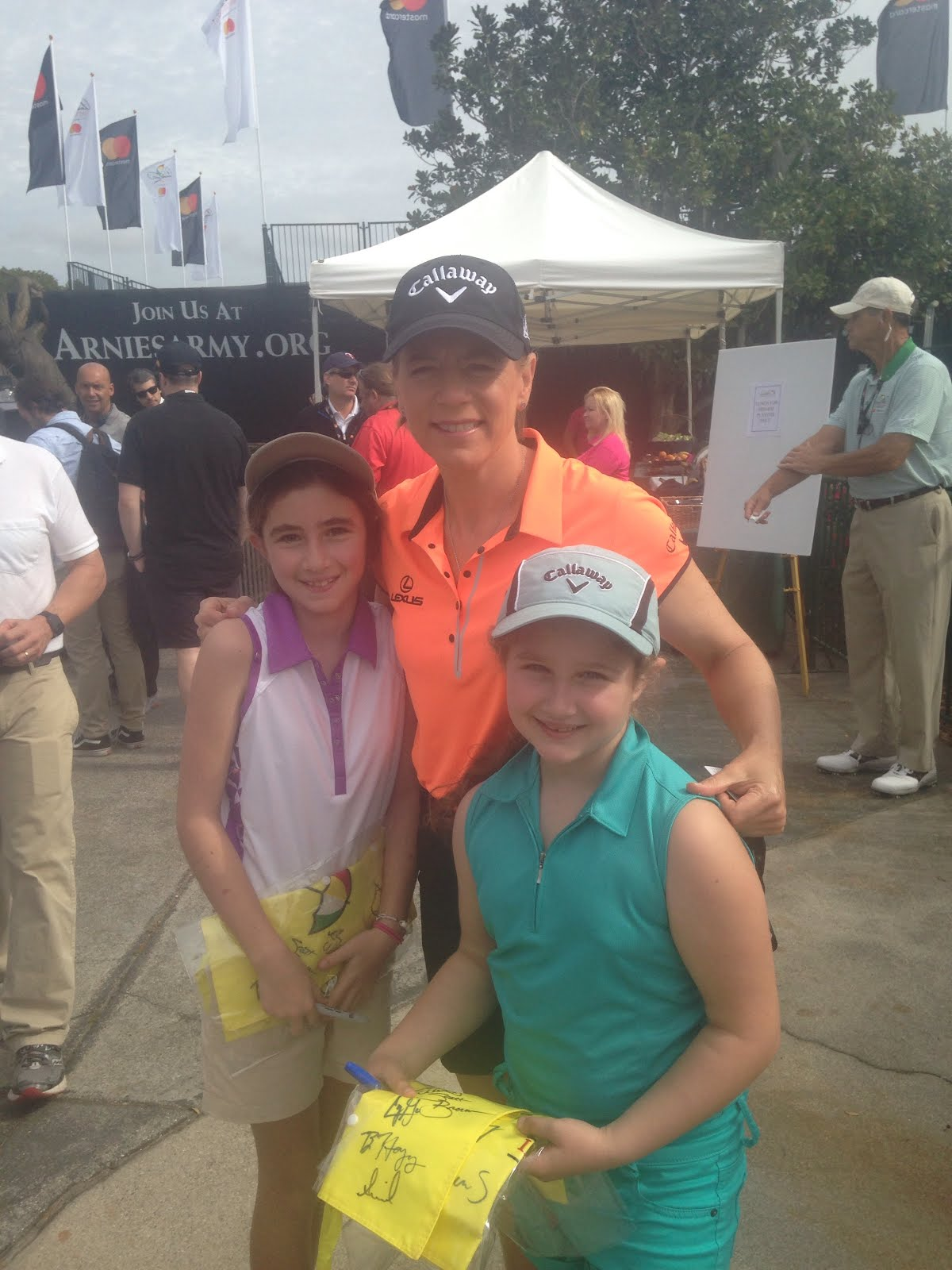 My sister, Me and My Hero, the best of all time, Annika Sorenstam!!