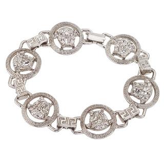 Vintage 1990's silver Versace medallion bracelet.