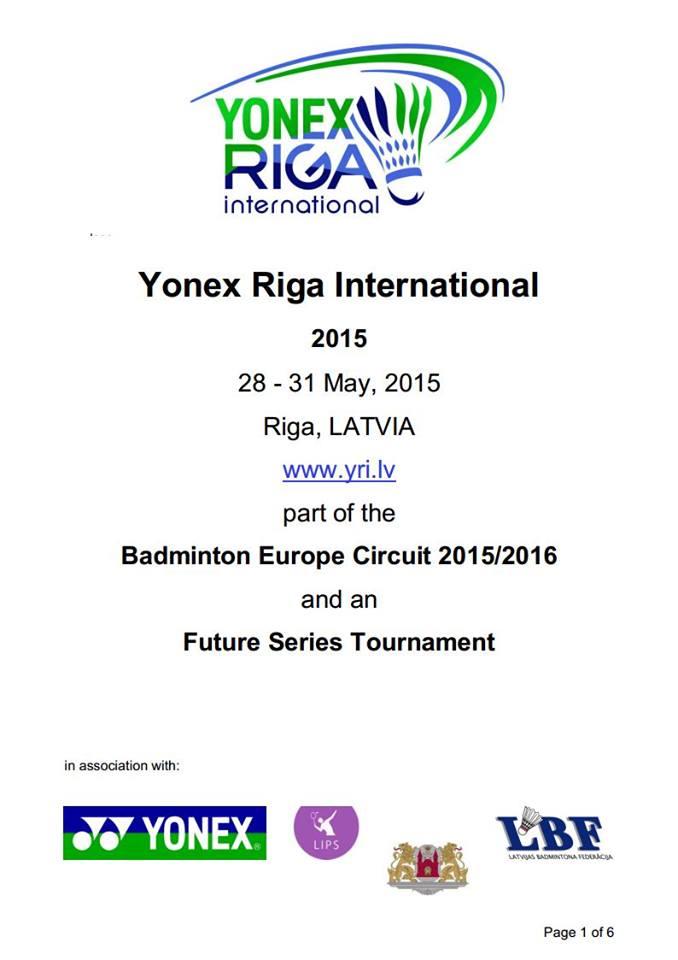 Internacionais de Riga 2015