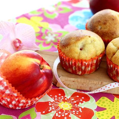 Illustration muffins sans beurre nectarine & vanille