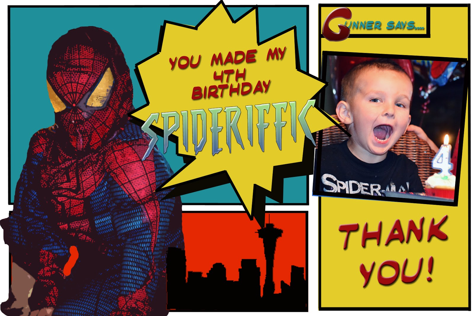 The Amazing Spiderman Thank You Cards Averie Lane The Amazing